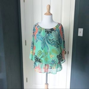 Paisley West Kei Blouse with peplum detail